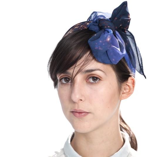 Slow Factory silk scarf