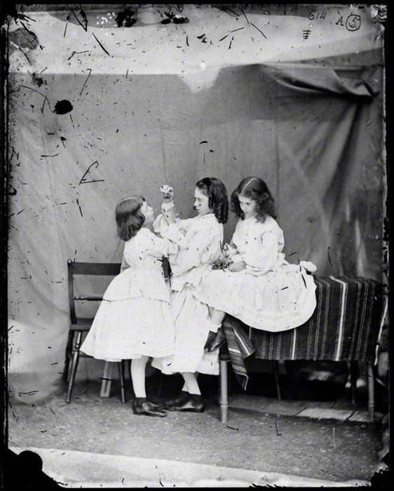 NPG P991(9); Edith Mary Liddell; Ina Liddell; Alice Liddell by Lewis Carroll (Charles Lutwidge Dodgson)