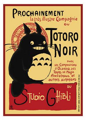 totoro noir poster